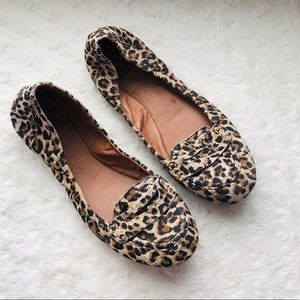 Lucky Brand Animal Print Moccasin Flats